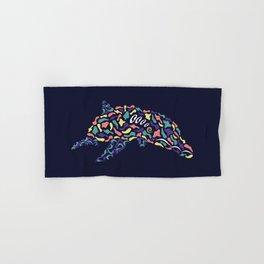 Abstract Dolphin Hand & Bath Towel