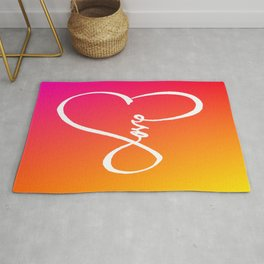 You are the Rainbow of my Heart Rug