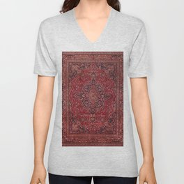 Antique Persian Rug Unisex V-Neck