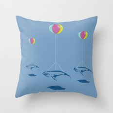 Whale Riders! Throw Pillow