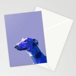 Greyhound. Blue dog Pop Art portrait. Hunting dog. Stationery Cards