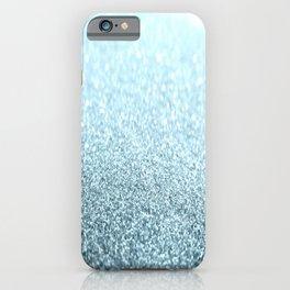 Ice Blue Glitter Sparkle iPhone Case