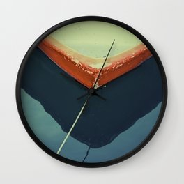 yellow boat Wall Clock