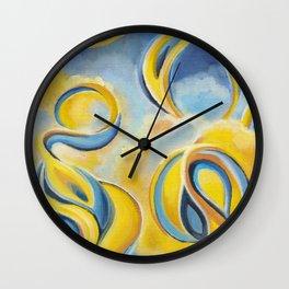 Thunderbirds And Rainbows Wall Clock