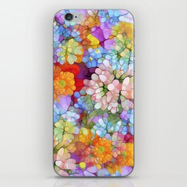 Rainbow Flower Shower iPhone Skin