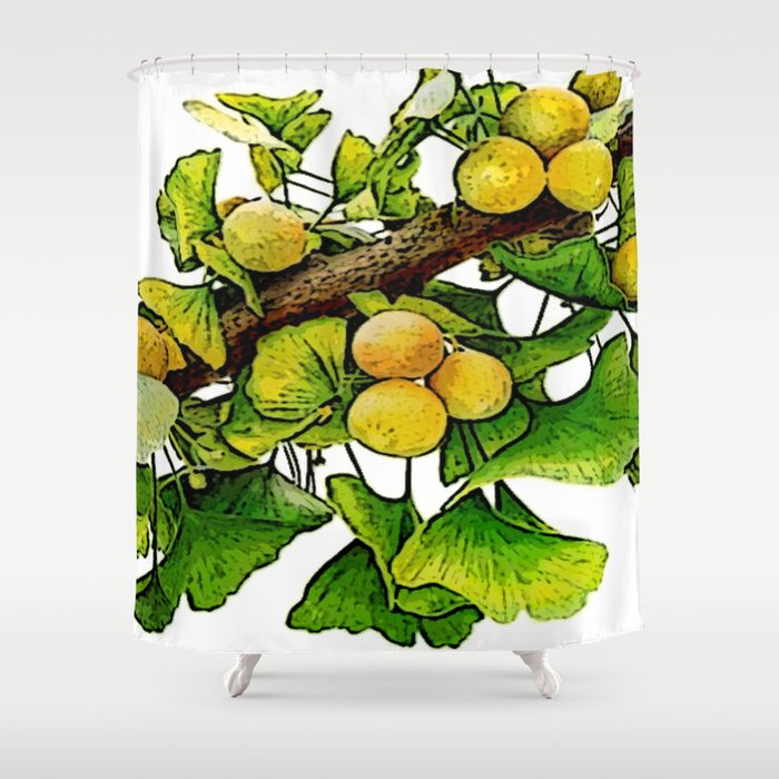 gingko immerse relaxation Shower Curtain