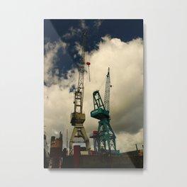 Harbor Crane Metal Print