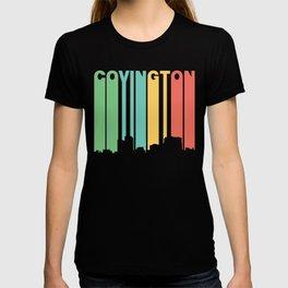Retro 1970's Style Covington Kentucky Skyline T-shirt