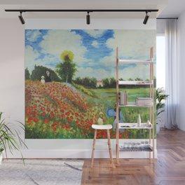 Claude Monet - Poppy Field at Argenteuil Wall Mural