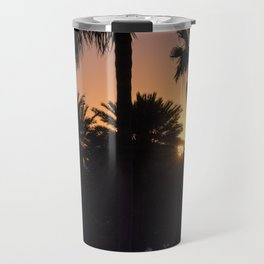 Backlight with palm trees Travel Mug