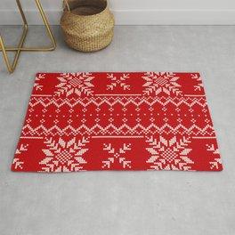 Beautiful Christmas Knitting Patterns Rug