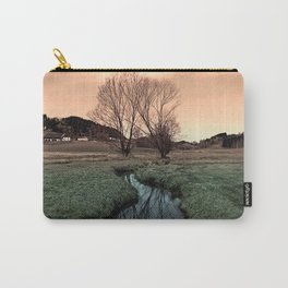 A stream, dry grass, reflections and trees II | waterscape photography Carry-All Pouch