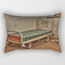 Abandoned hospital bed Rectangular Pillow
