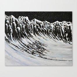Starlit Cliffs Canvas Print