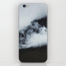 Peak hidden in the clouds iPhone Skin