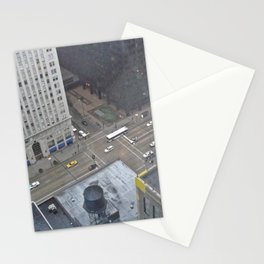 Chicago in the mirror Stationery Cards