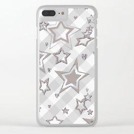 Holiday decor, shiny stars ,Christmas 2 Clear iPhone Case