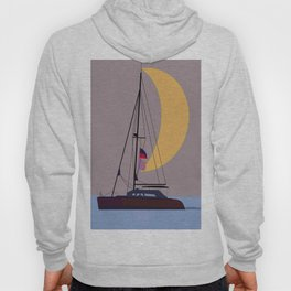 Boat in the middle of the night Hoody