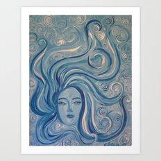 Angeni Maris {Spirit Angel of the Sea} Art Print