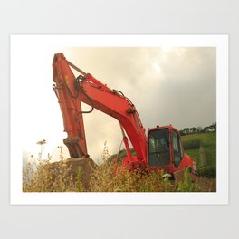 Construction machinery Art Print
