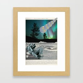 Moon to Earth Framed Art Print