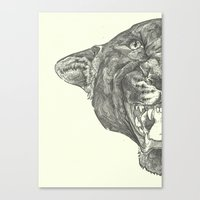 panther Canvas Prints featuring Panther by Breakell