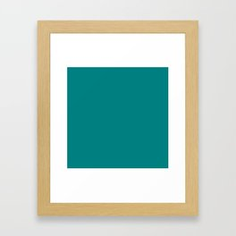 Teal Colour Framed Art Print