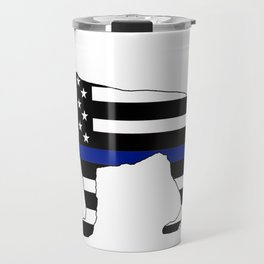 German Shepherd: Thin Blue Line Travel Mug