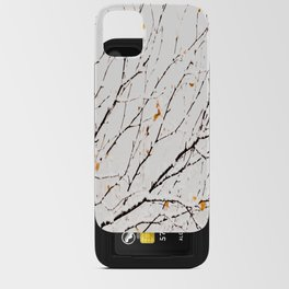 Snowy birch twigs and leaves #decor #society6 #buyart iPhone Card Case