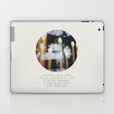 if one only remembers to turn on the lights Laptop & iPad Skin