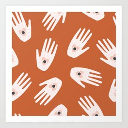 See Hold Love | Terracotta & Pink Art Print