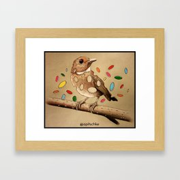 Bird Bits Framed Art Print