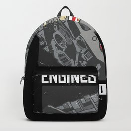 Engines & Beer the Reason I am here Gift Backpack