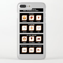 Picking Food Clear iPhone Case