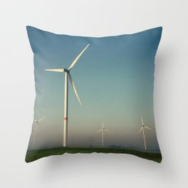 Windmills in the Sun Throw Pillow
