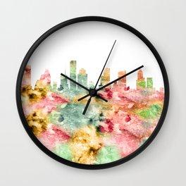 Houston City Skyline Texas Wall Clock