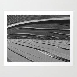 dual realities: white Wasteland Art Print