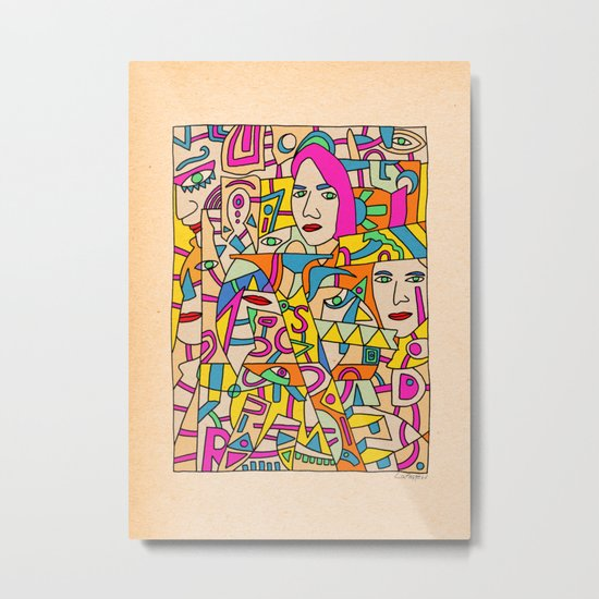 - shy - Metal Print