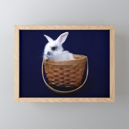 Bunny in a Basket Framed Mini Art Print