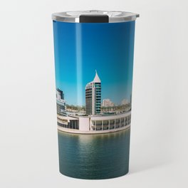 Parque das Nacoes (Park of Nations) in Lisbon, Wall Art Print, Modern Architecture Art, Skyline Travel Mug