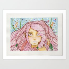 Seahorse Love Art Print