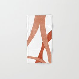 Terracotta Art Print 4 - Terracotta Abstract - Modern, Minimal, Contemporary Print - Burnt Orange Hand & Bath Towel