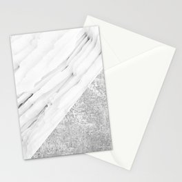 Grey / White Marble Stationery Cards