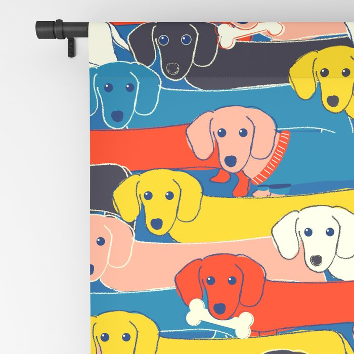 COLORED DOGS PATTERN 2 Blackout Curtain