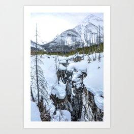 Snowy Marble Canyon Art Print