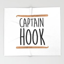 Captain Hook Throw Blanket