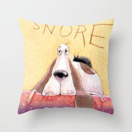 SNORE Throw Pillow