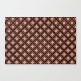 Sherwin Williams Cavern Clay Zigzag Square Pattern Canvas Print
