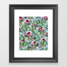 Frosty Florals #society6 #decor #buyart Framed Art Print