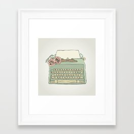 Retro typewriter Framed Art Print